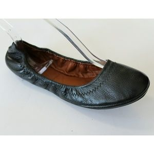 Lucky Brand Emmie Black Leather Flat